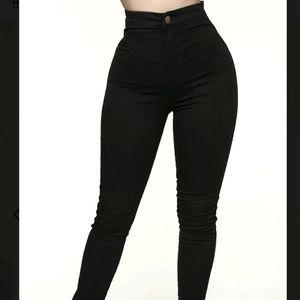 High waisted skinny black jeans